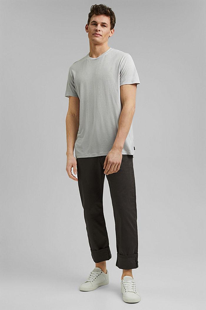 Camiseta de jersey en lyocell (TENCEL™) y lana, LIGHT GREY, detail image number 2