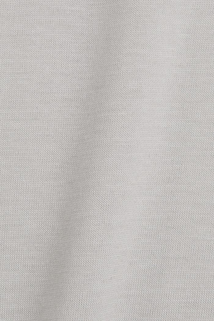 Camiseta de jersey en lyocell (TENCEL™) y lana, LIGHT GREY, detail image number 4