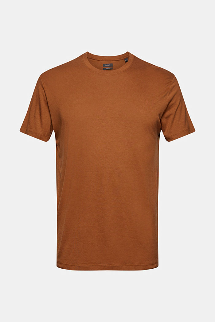 Jersey T-shirt made of lyocell(TENCEL™)/wool, CAMEL, detail image number 6