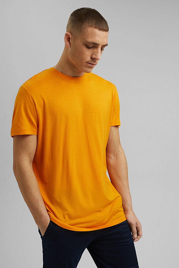 Jersey-T-Shirt aus Lyocell (TENCEL™)/ Wolle, SUNFLOWER YELLOW, detail image number 0
