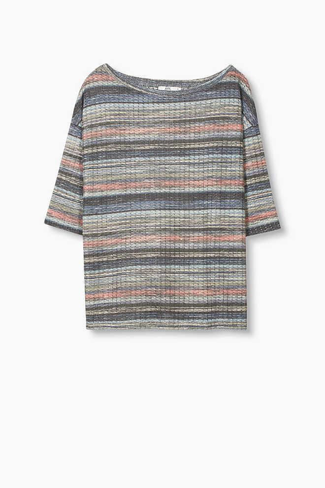 Rovné ažurové tričko se lnem
