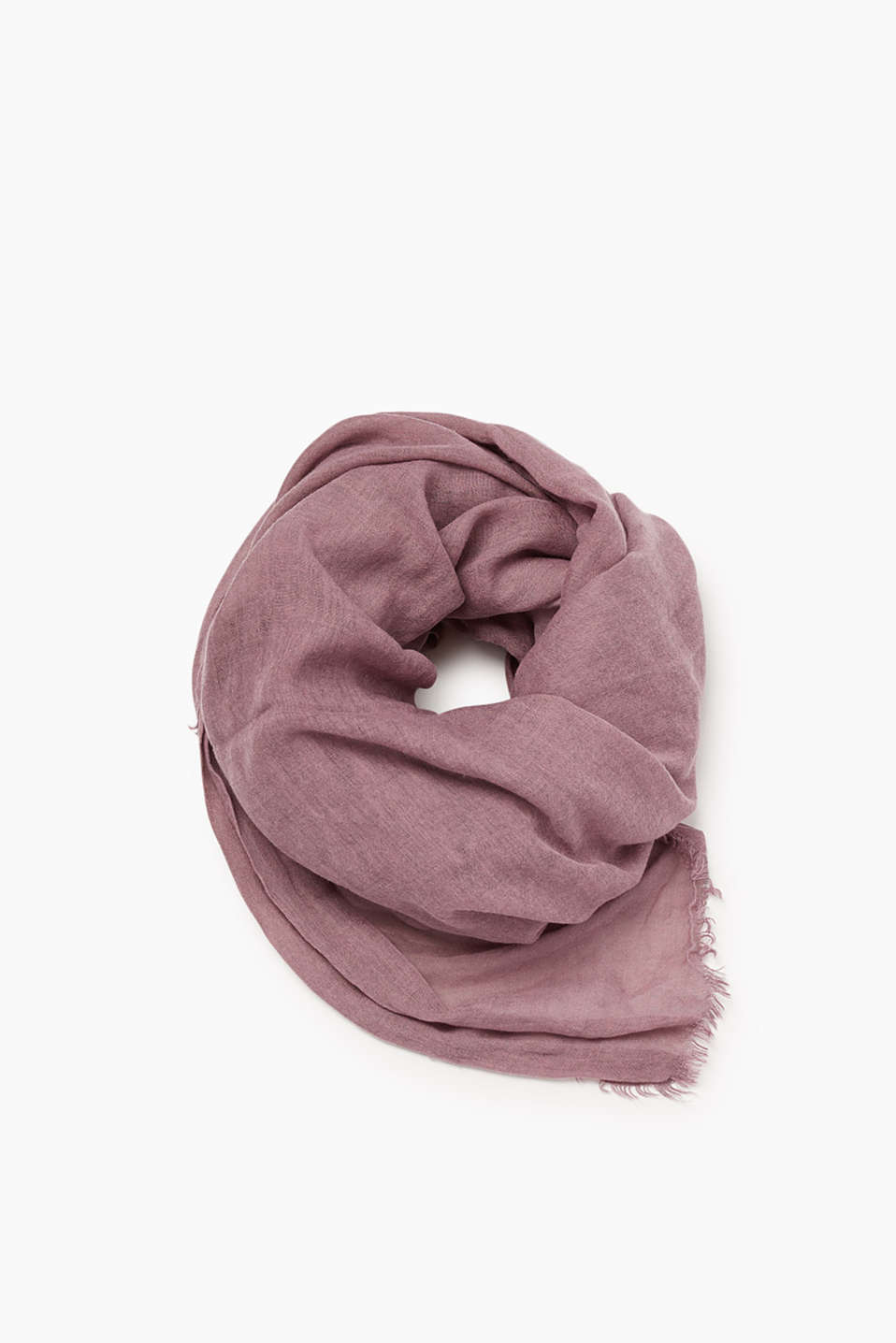 Esprit - Crushed, washed-effect scarf