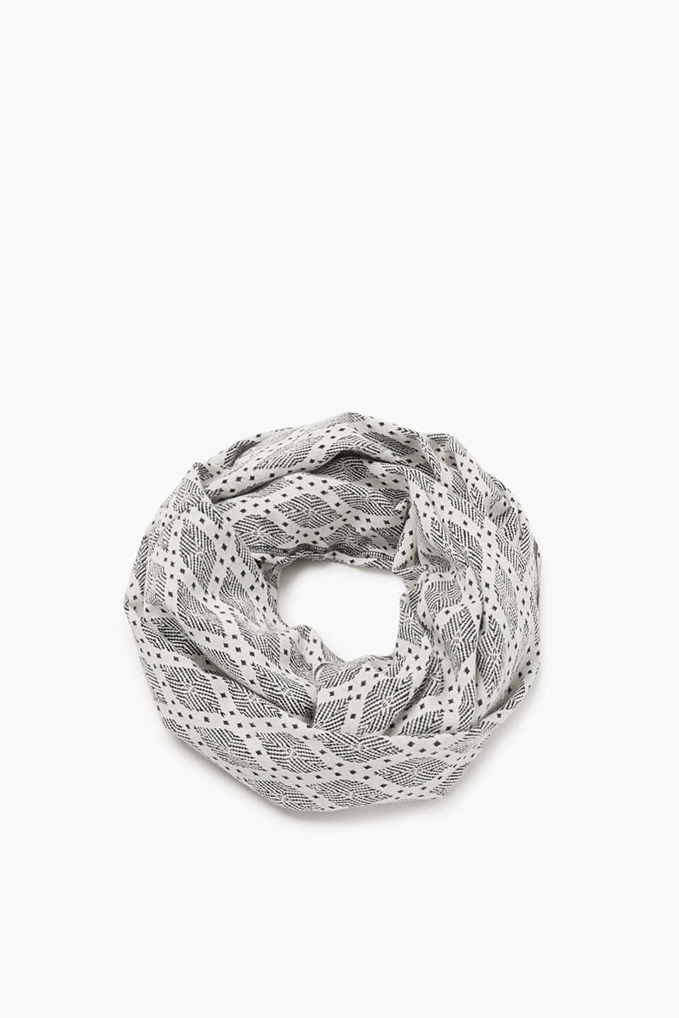 Esprit - Snood with a geometric pattern