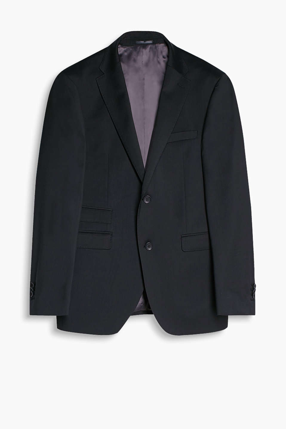 Elegant sports jacket in a timeless design with a soft sheen