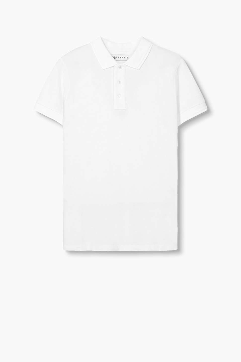 The Wardrobe: Cotton polo shirt in piqué fabric