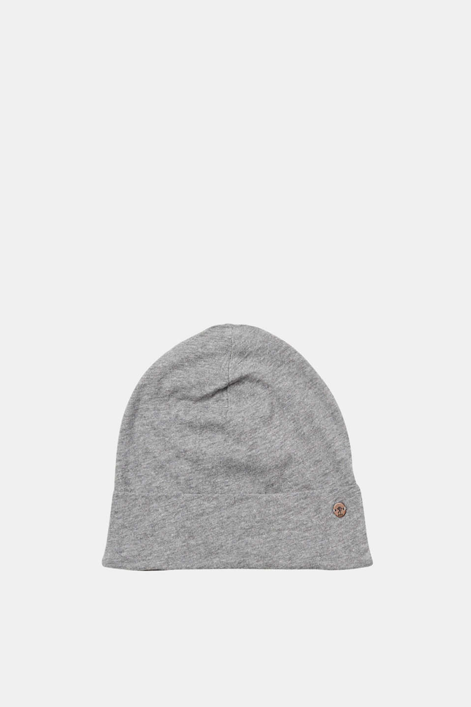 edc - Melange beanie in blended cotton