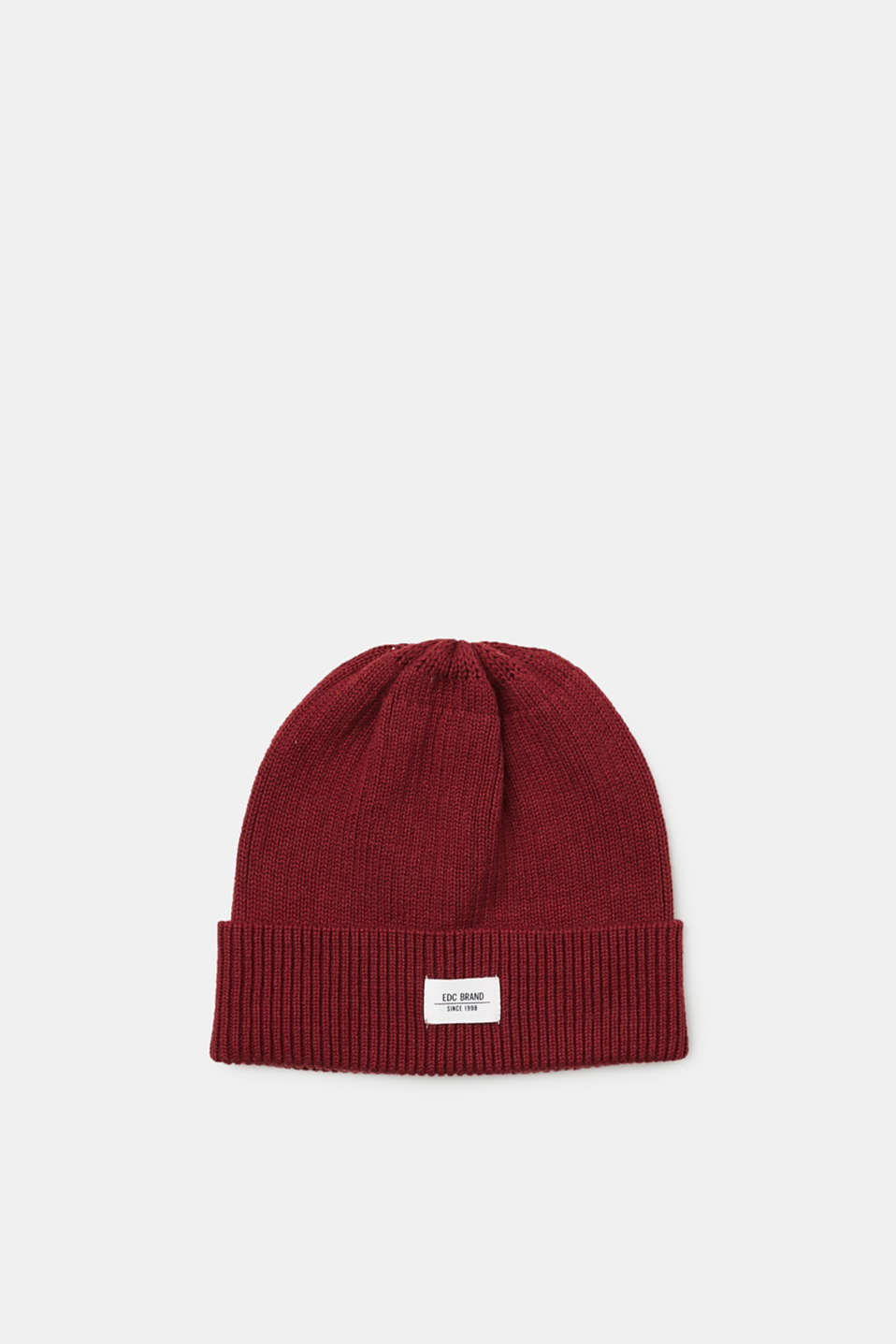 edc - Ribbed beanie in blended wool