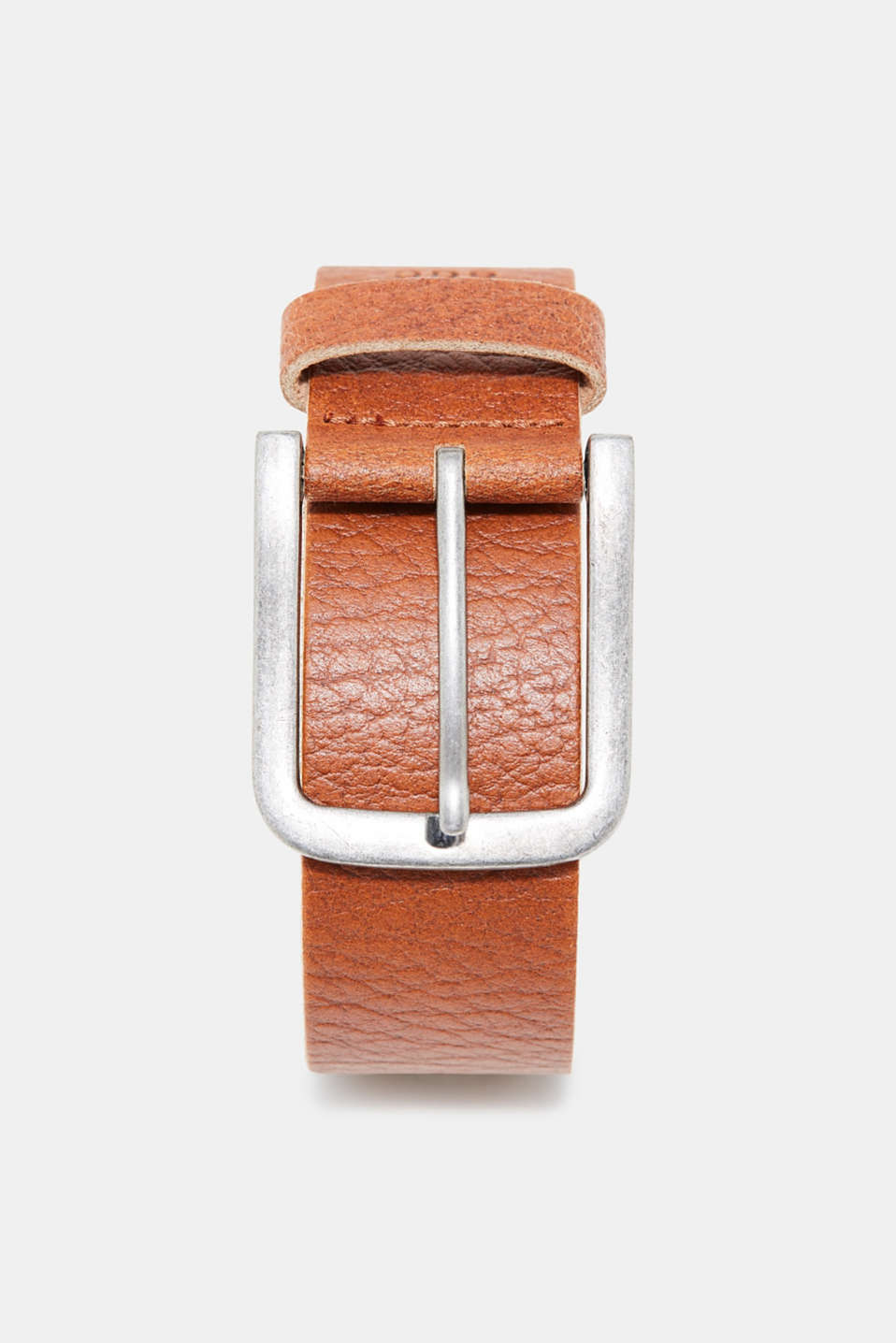 edc - Leather belt with a vintage finish