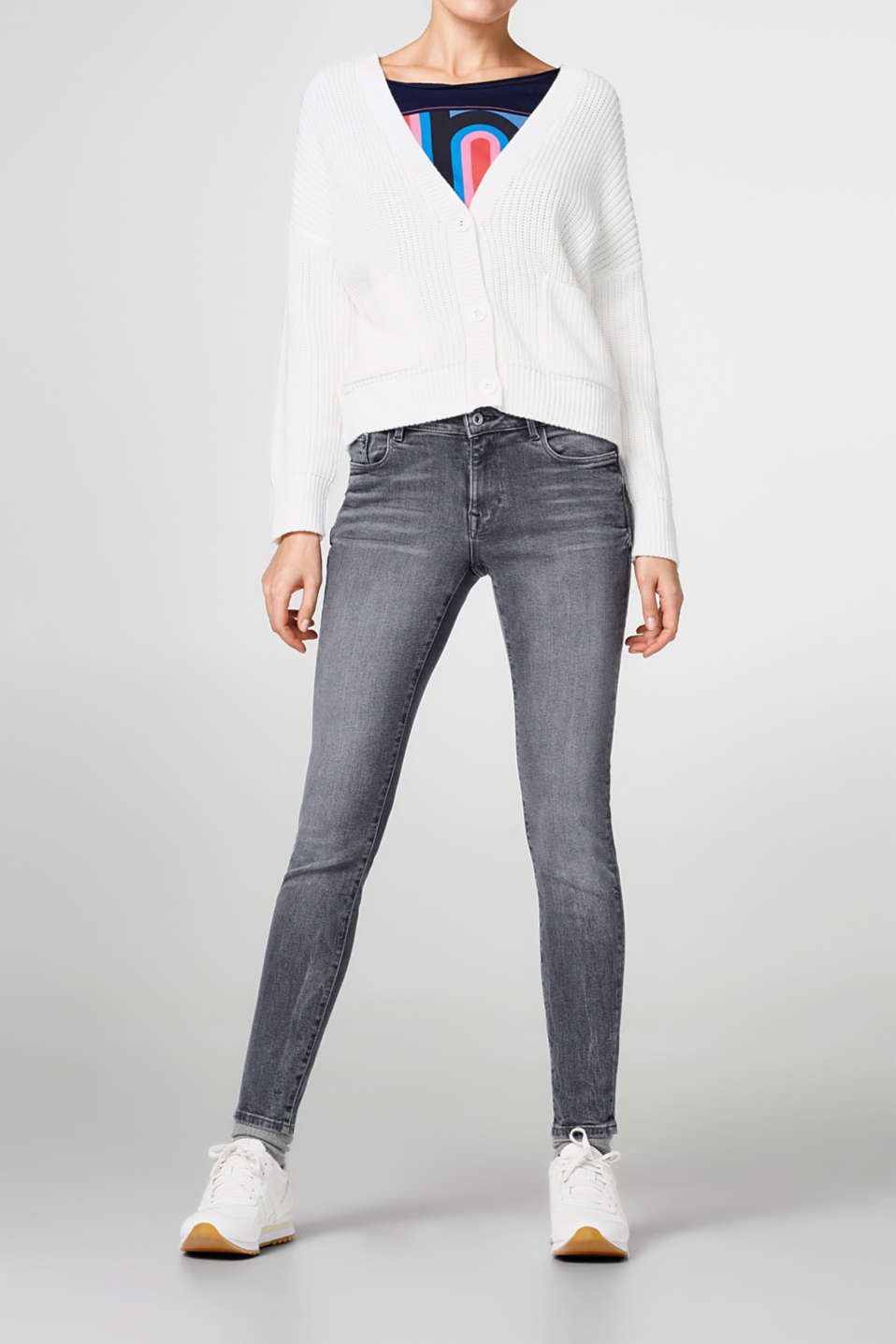 edc - Grey, ankle-length jeans