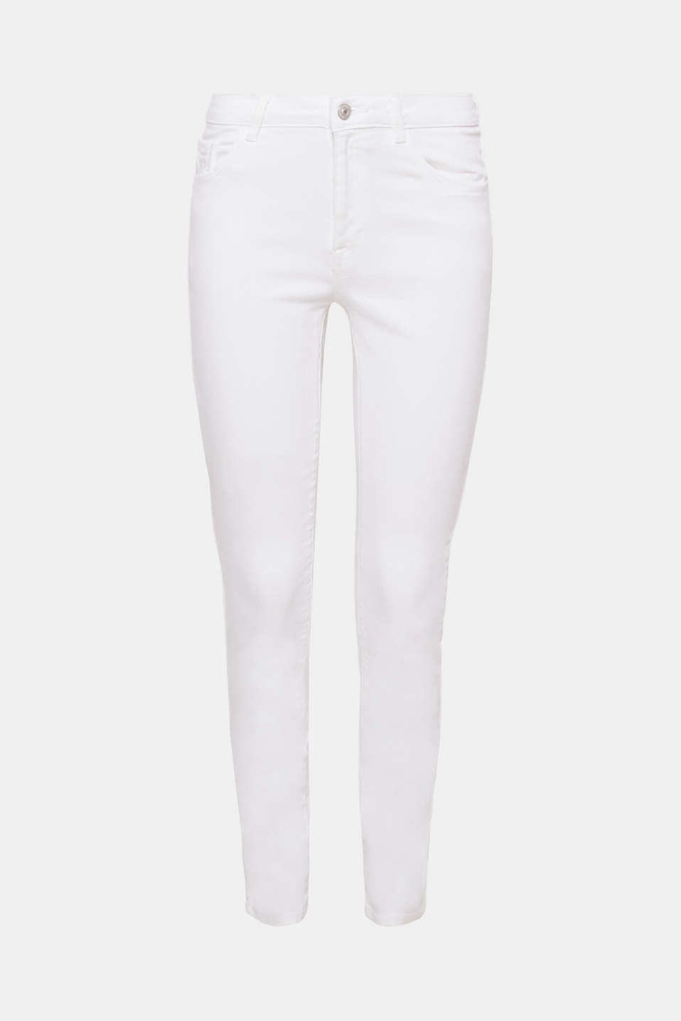 These fashionable cropped jeans are the perfect styling partner in clean white denim with added stretch.
