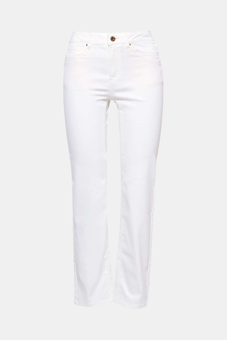 These straight-cut five-pocket trousers made of comfortable stretch cotton work on virtually every occasion.