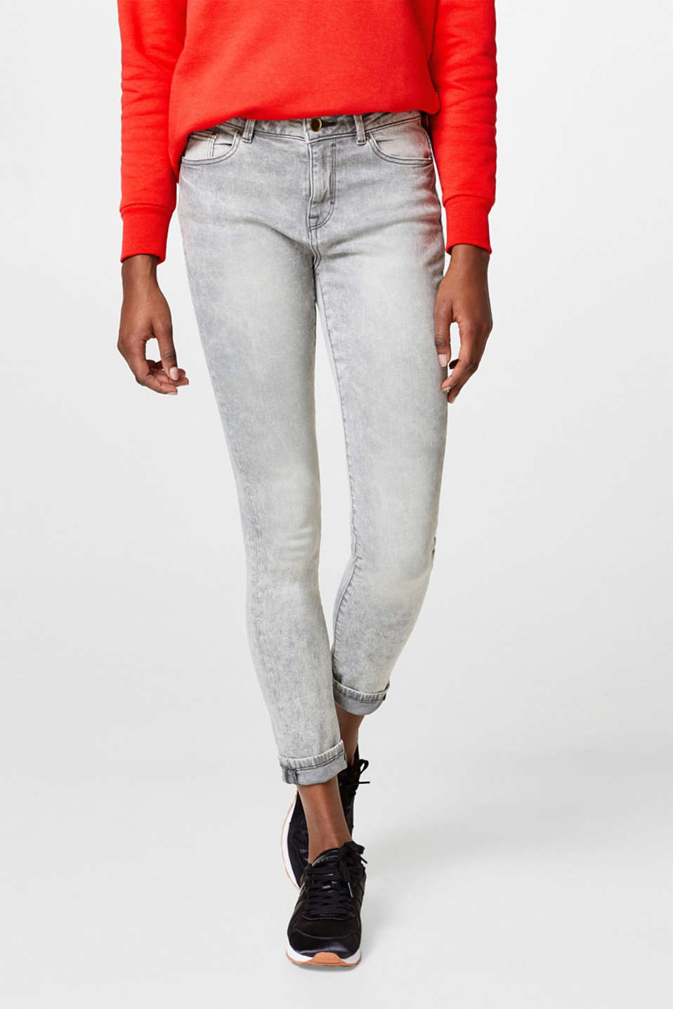 edc - Stretch jeans + trendy garment wash