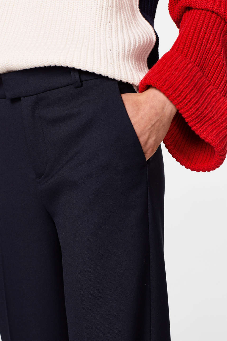 Pantalon stretch à pinces