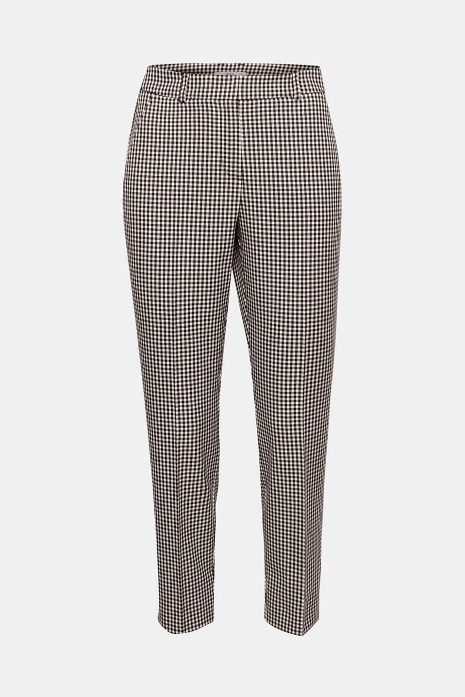 Brand new look in a trendy check pattern! These stretch trousers in a stylish gingham pattern are head-turners.