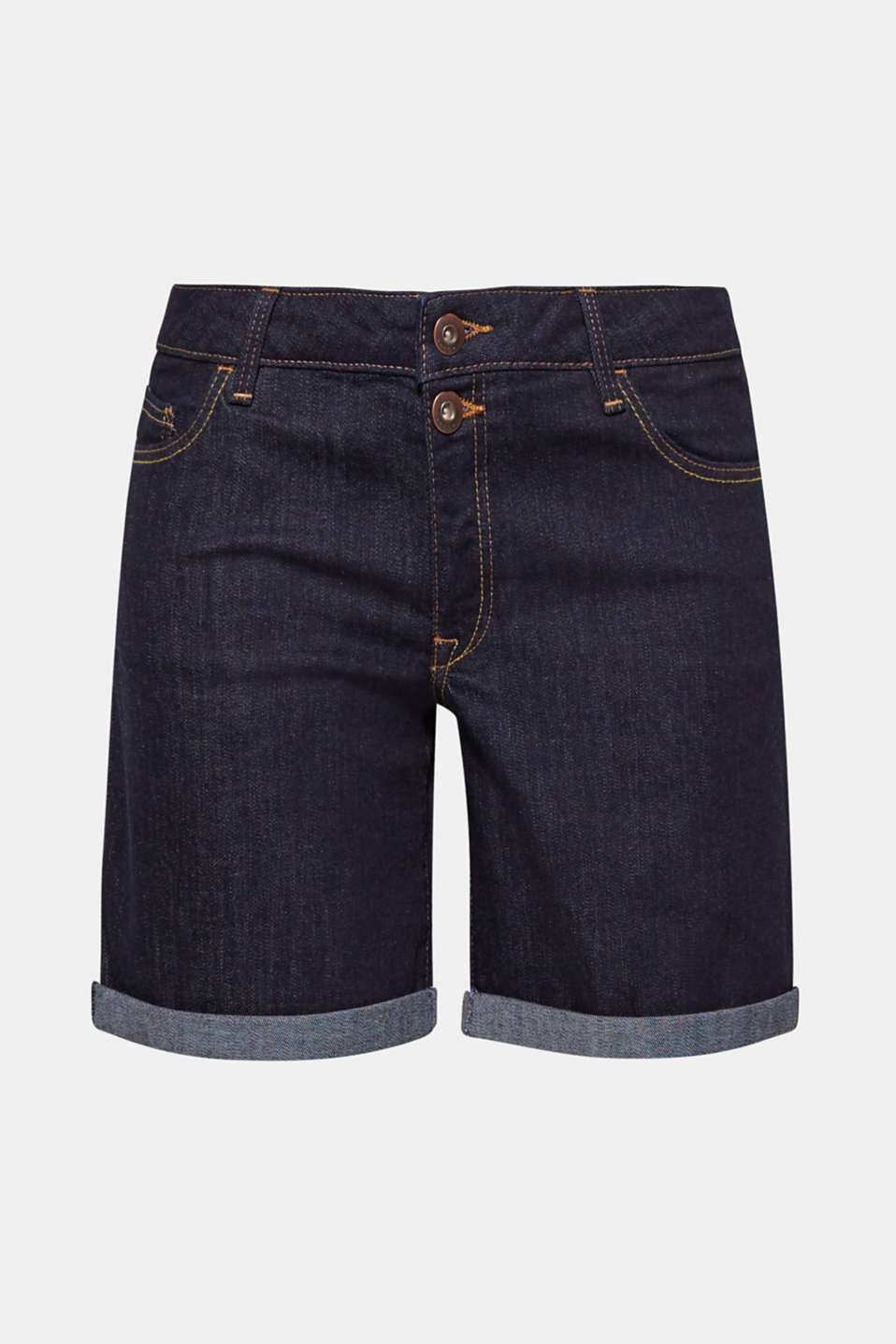 These casual shorts in stretch cotton denim are a must-have for summer.