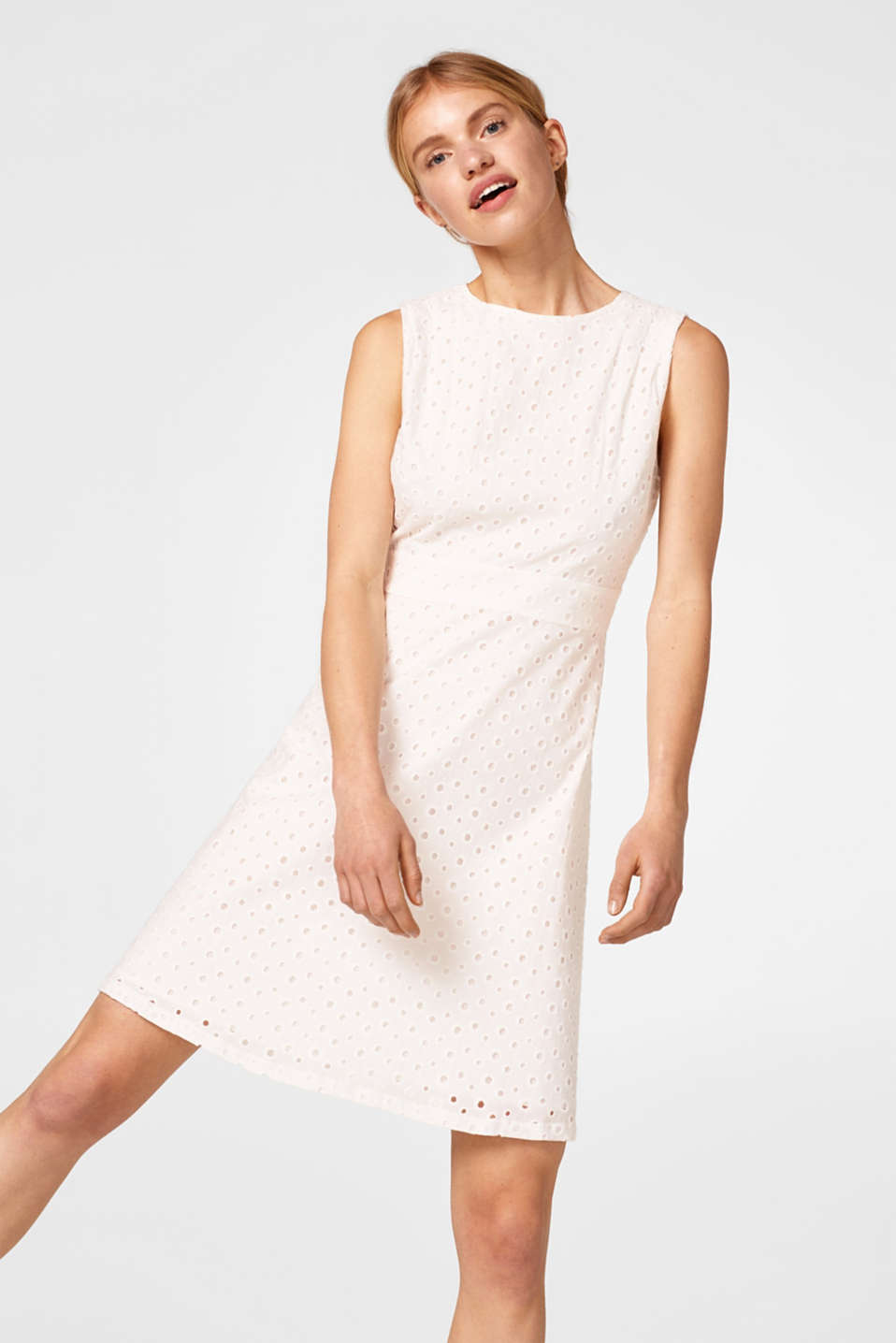 edc - Cotton broderie anglaise dress