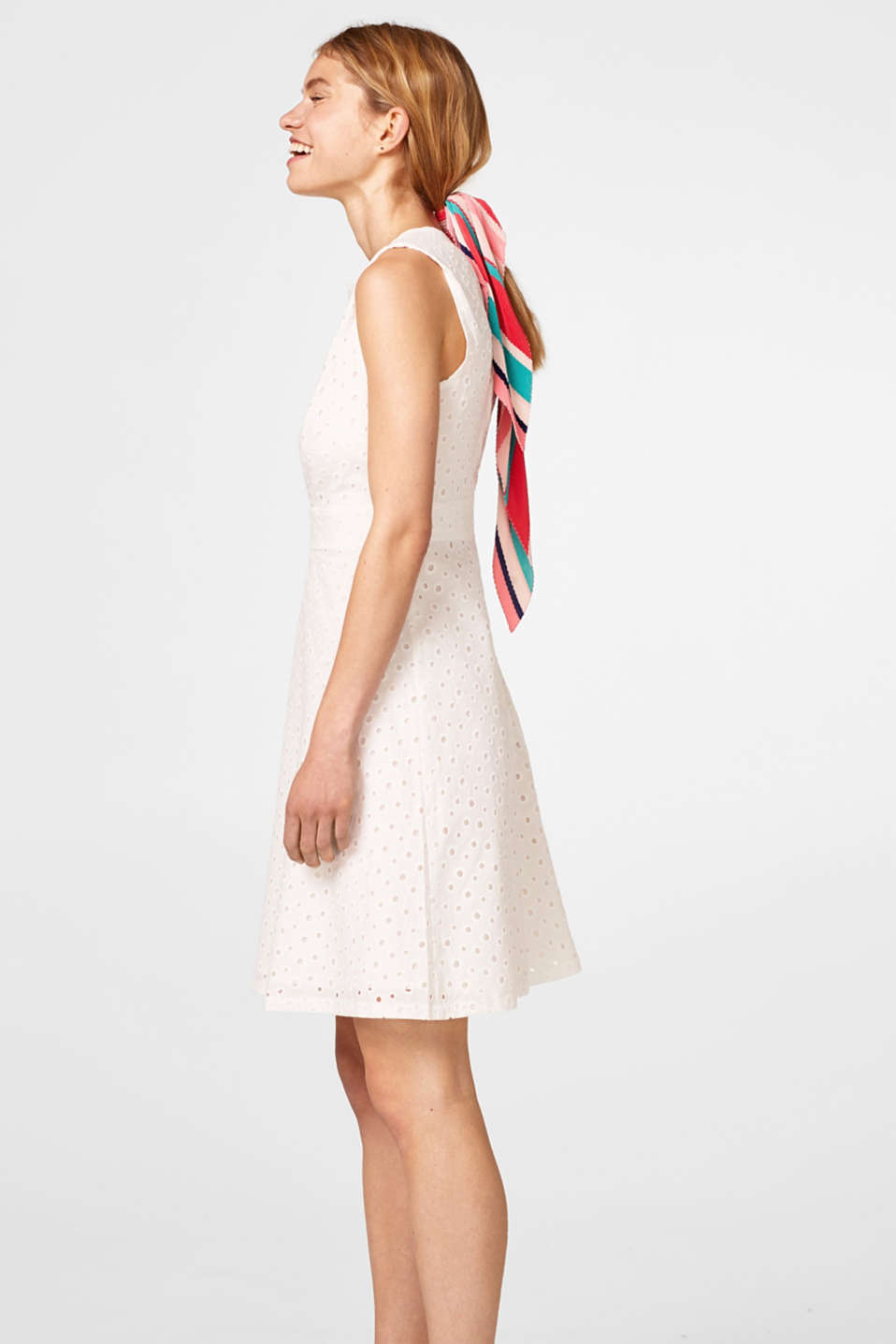 Cotton broderie anglaise dress