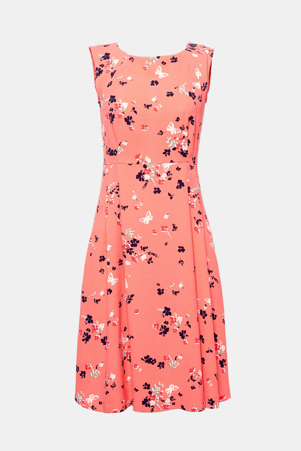 Let spring into your wardrobe with this floral dress in a swinging A-line.