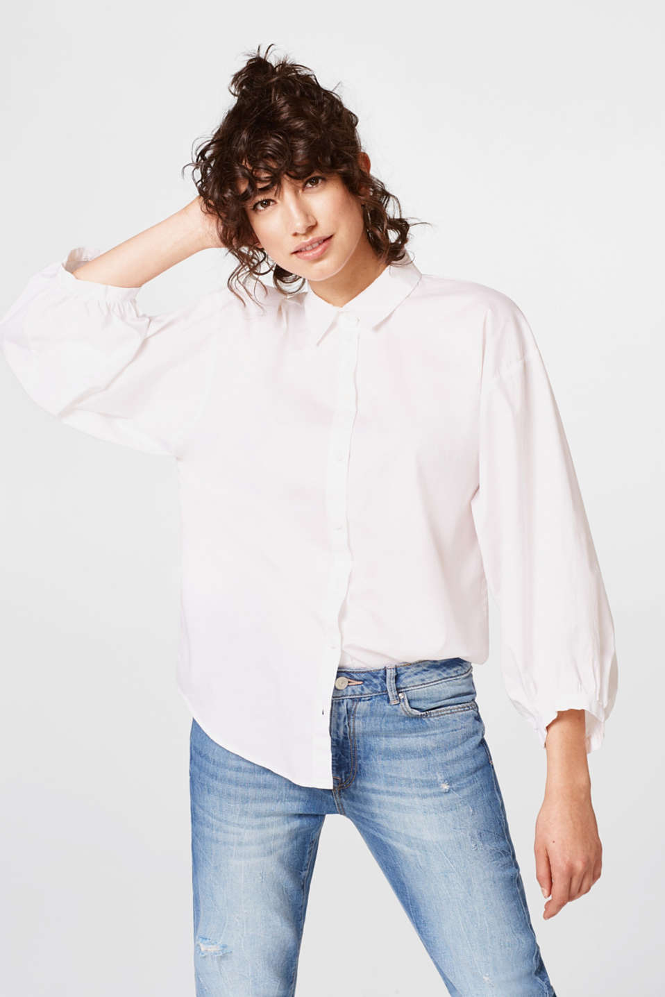 edc - Stretch blouse with balloon sleeves