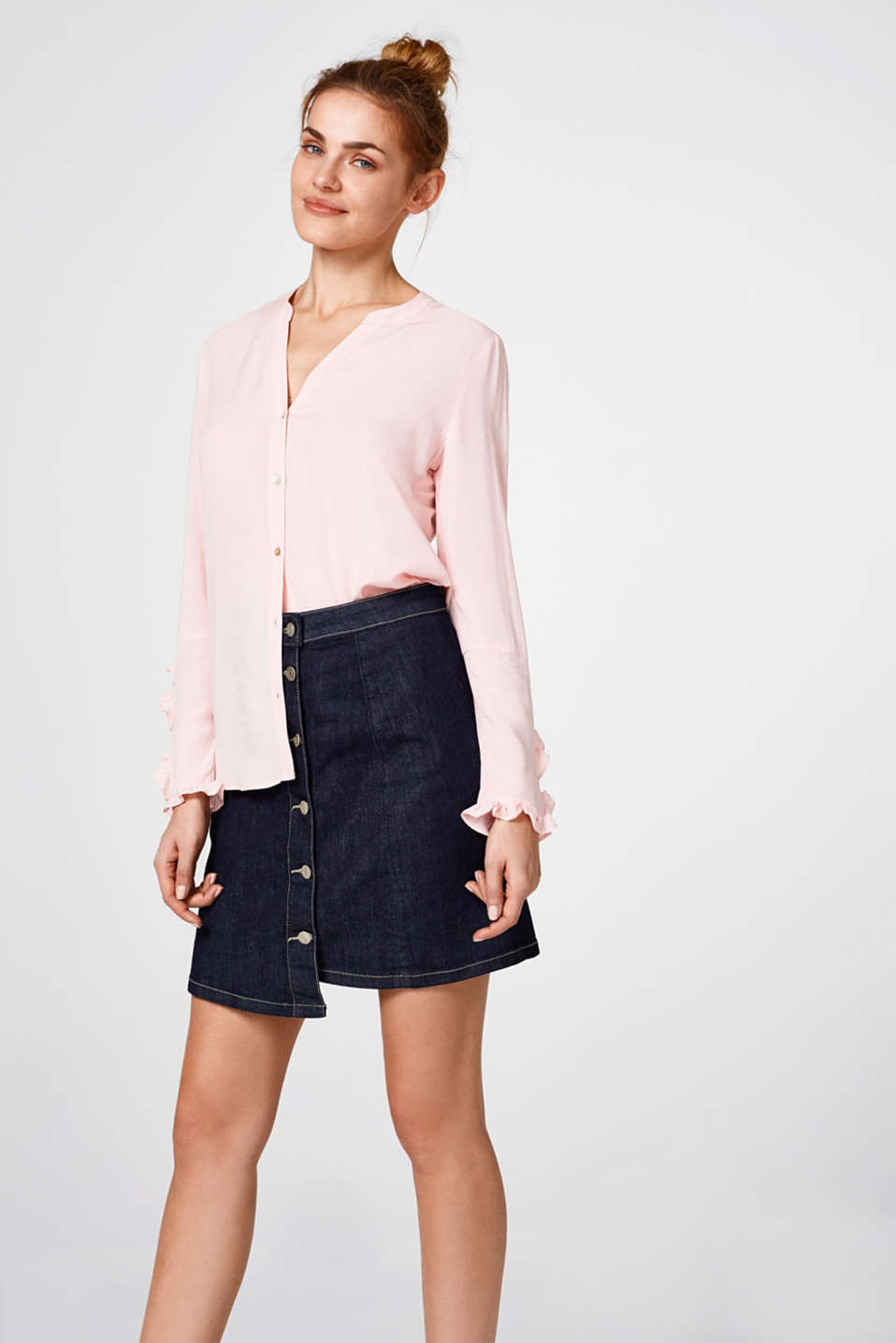 edc - Delicate blouse with frill details