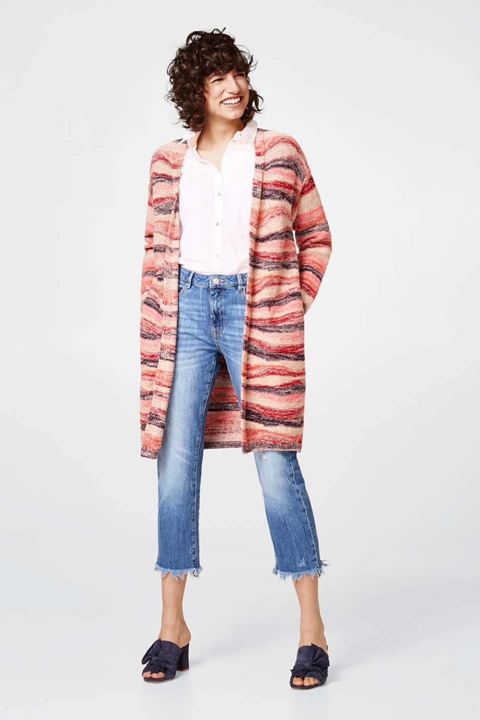 Open multi-coloured cardigan