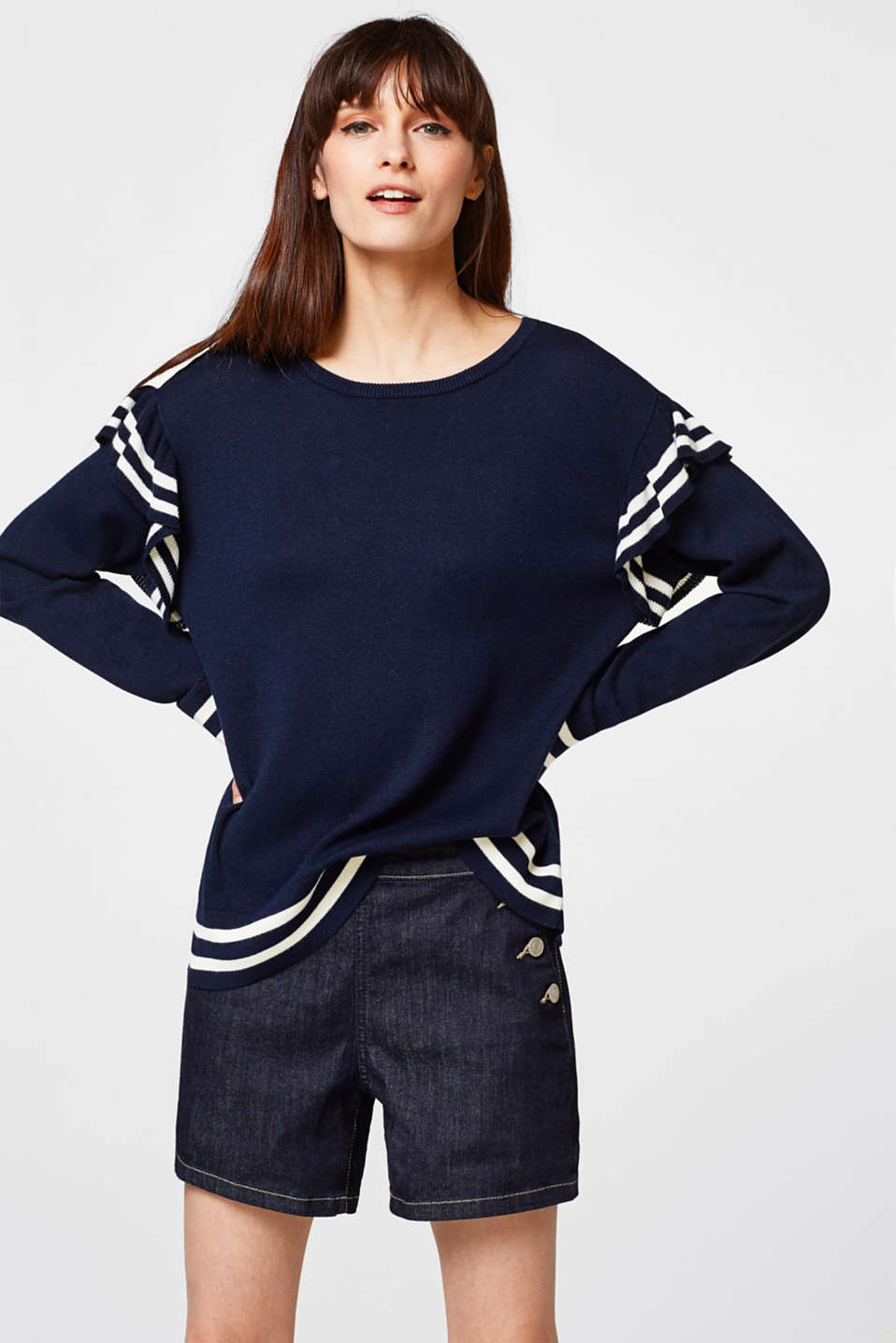 edc - Cotton jumper with frills