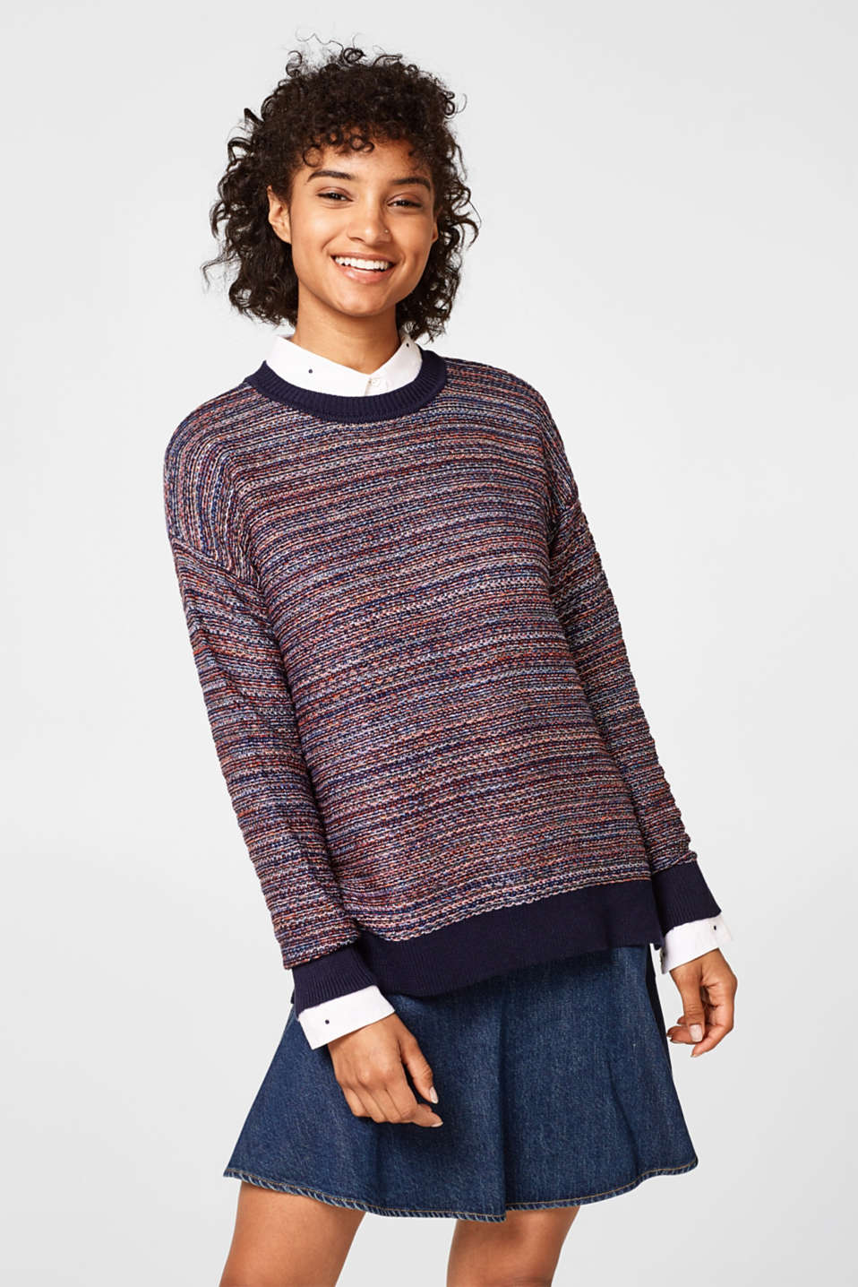 edc - Fine knit jumper in a lurex look