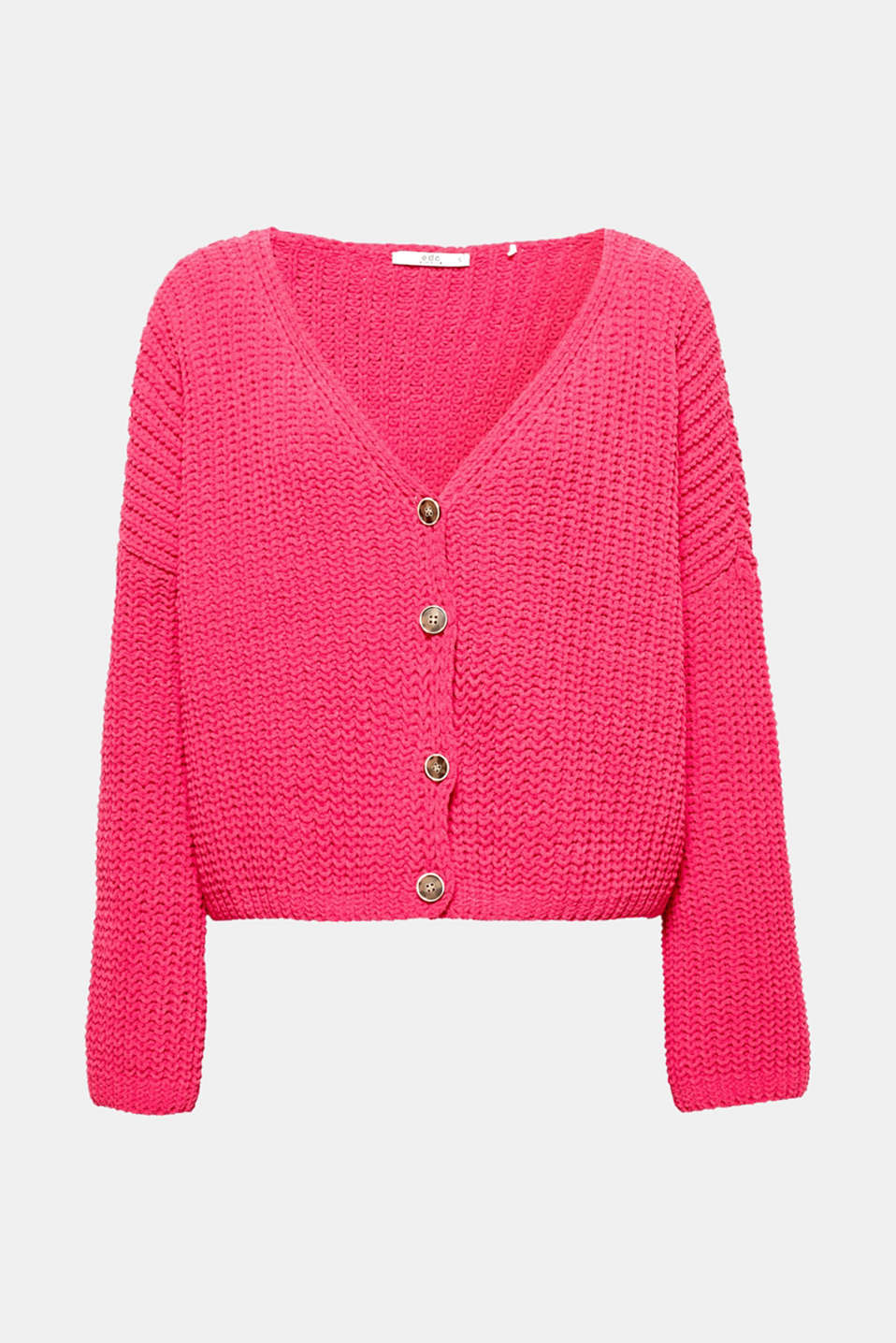 This cropped, soft knitted cardigan is the perfect essential for different combinations.