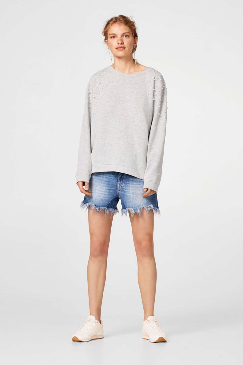 Softer Sweater mit Perlen-Dekor