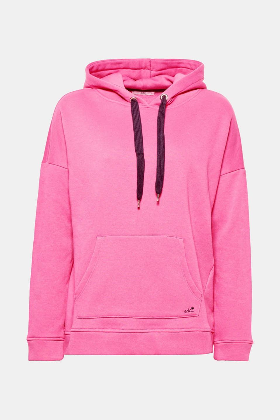 This hoodie with a striking wide drawcord and large hood creates a super relaxed look.