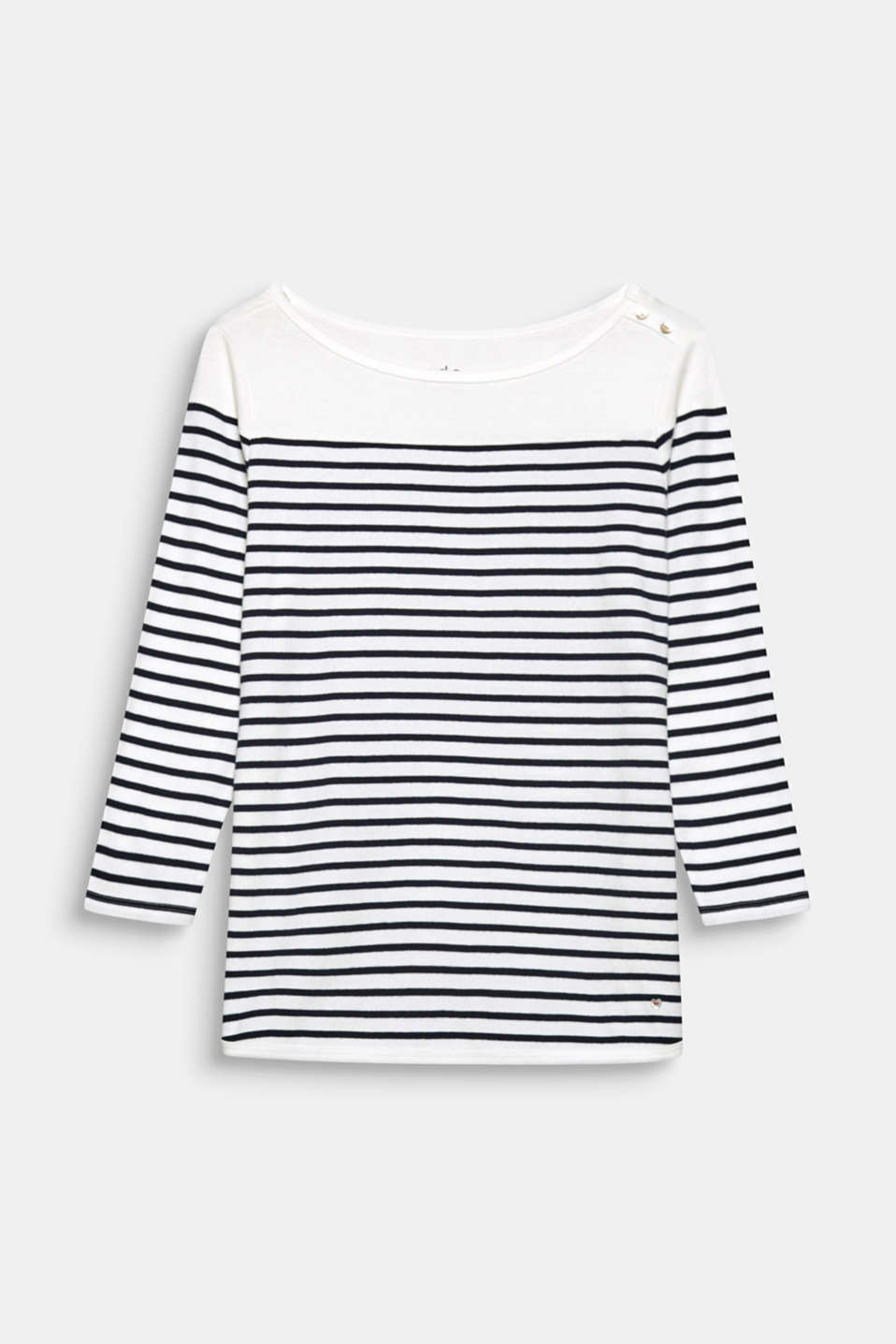 This finely ribbed cotton tee patterned with Breton stripes has a fantastic nautical vibe.