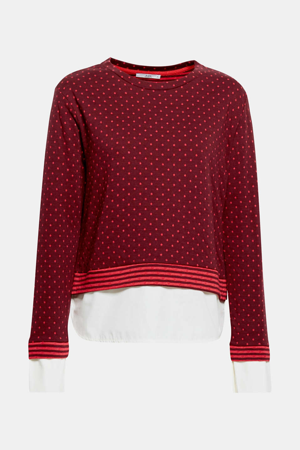 Slip it on and be sensationally styled: an absolute no-brainer with this spotty, 2-in-1 sweatshirt!