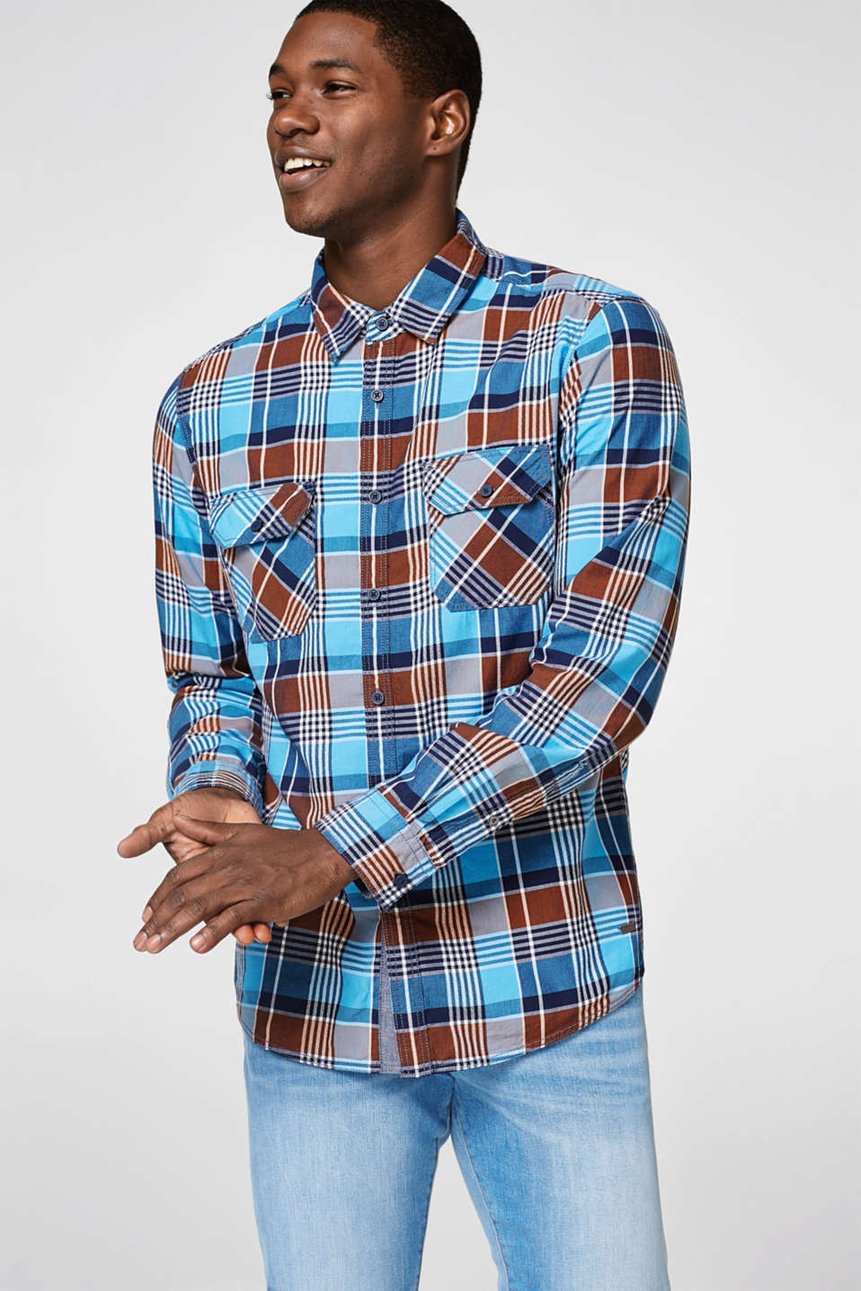 edc - Shirt with a bold check pattern