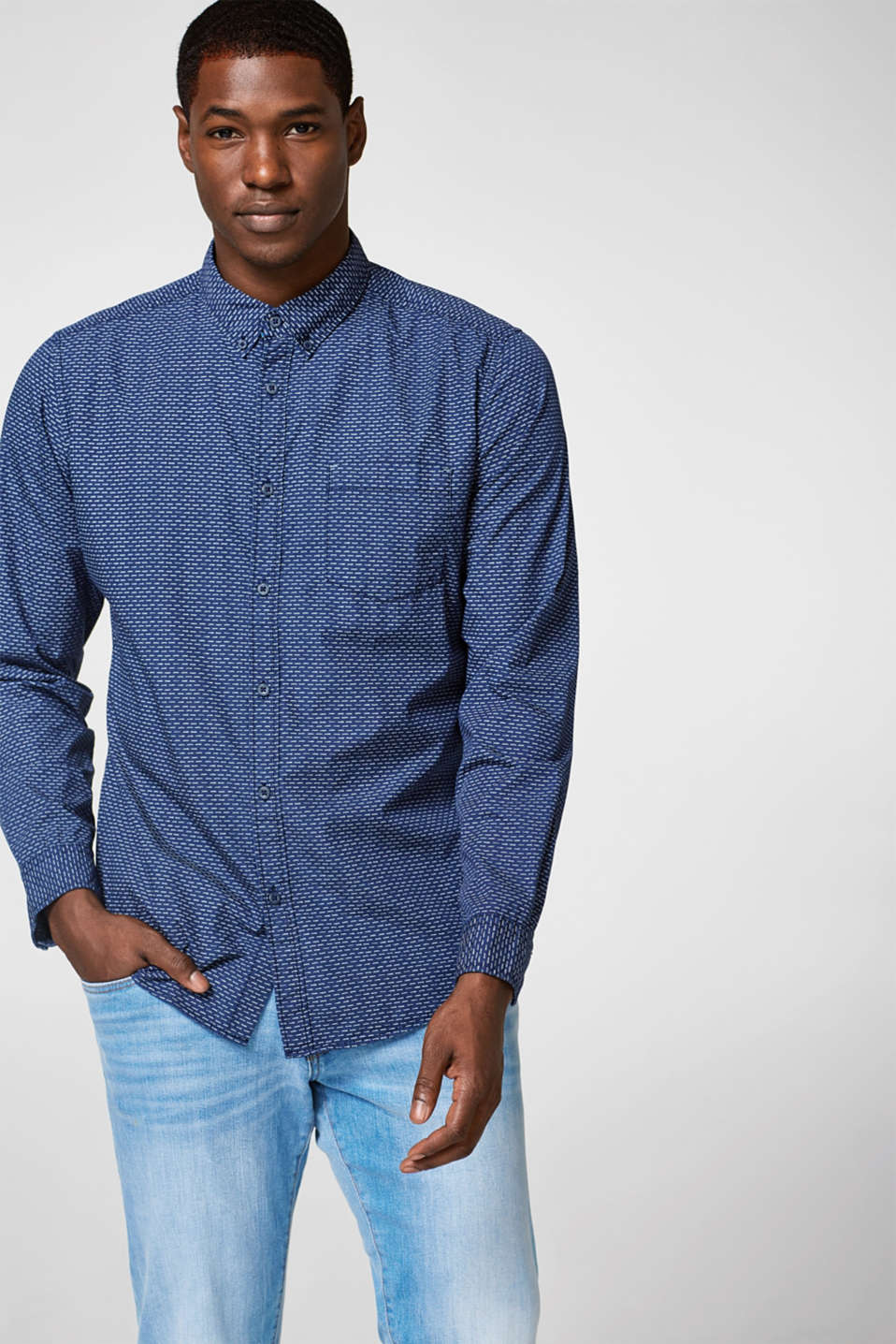edc - Print shirt in pure cotton