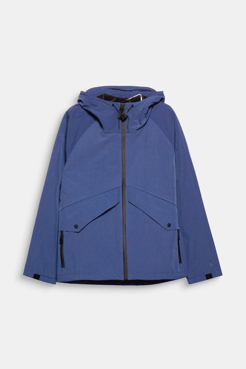 For windy and inclement weather! The hood and fleece lining make this sporty trans-seasonal jacket a functional piece.