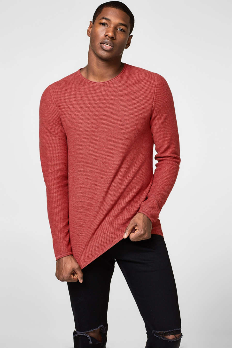edc - Textured cotton jumper