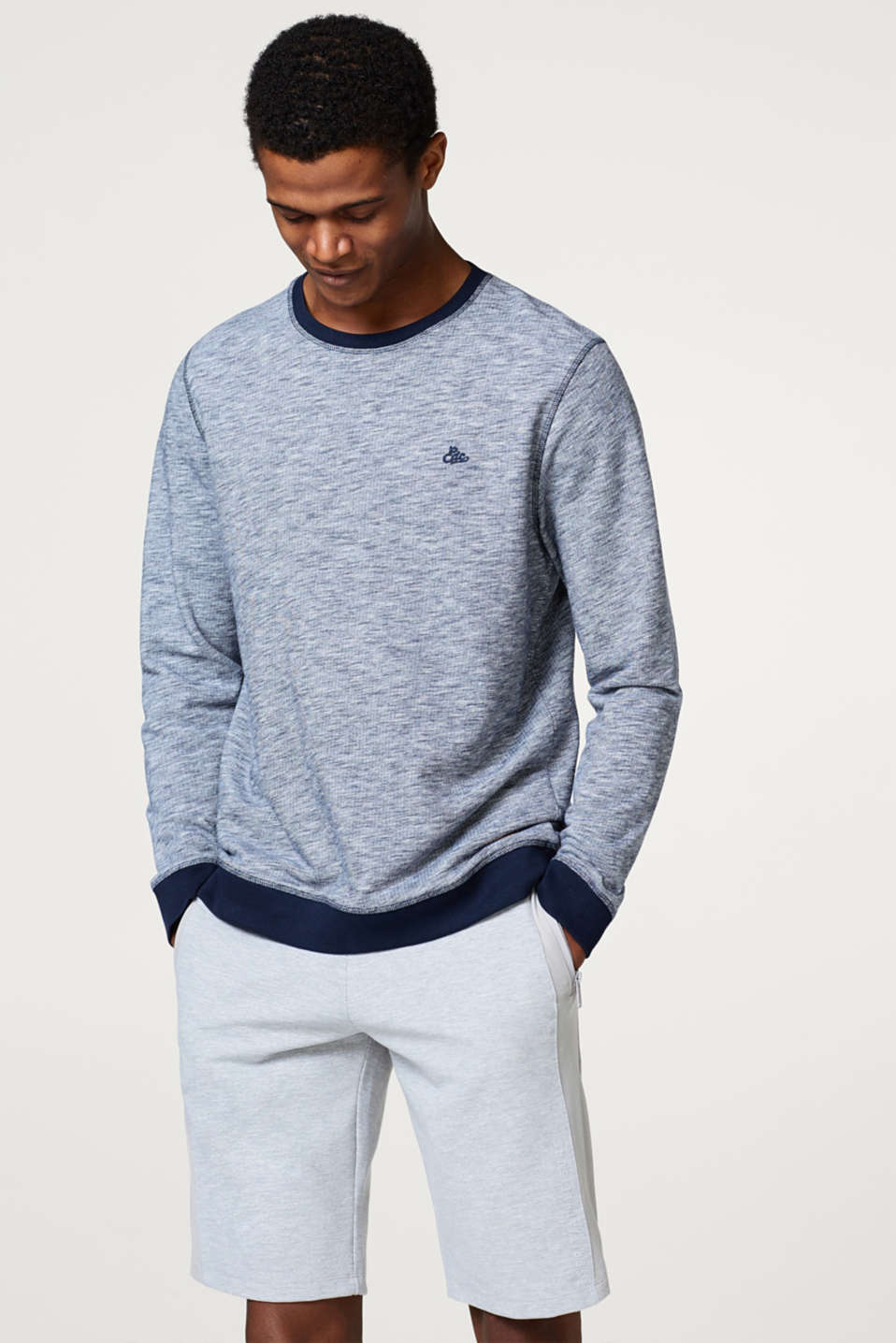 edc - Sweat-shirt en coton mélangé