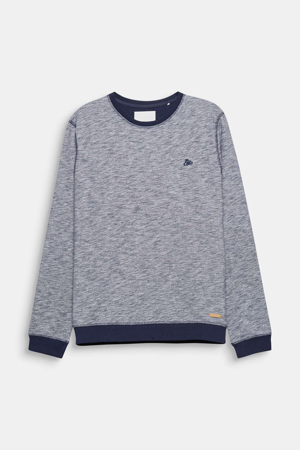 A sporty essential for your EDC look: melange, blended cotton sweatshirt.