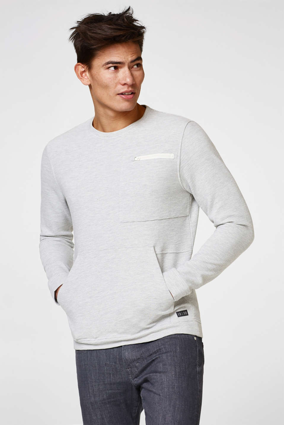 edc - Sweatshirt with textured stripes
