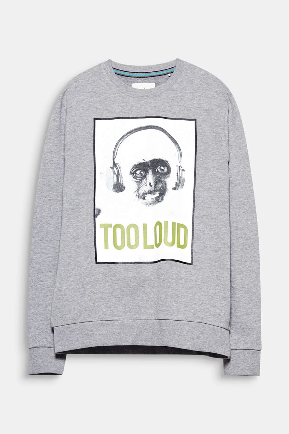 Too loud! The ironic photo print makes this sweatshirt a funny fashion style.