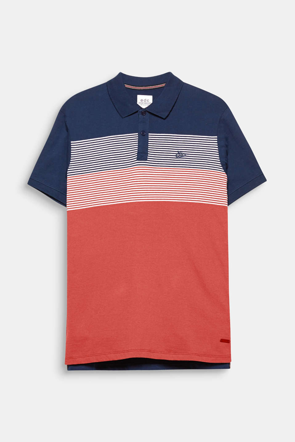 Plain at the back and a versatile striped look on the front: this polo shirt wows with its fresh, sporty style.