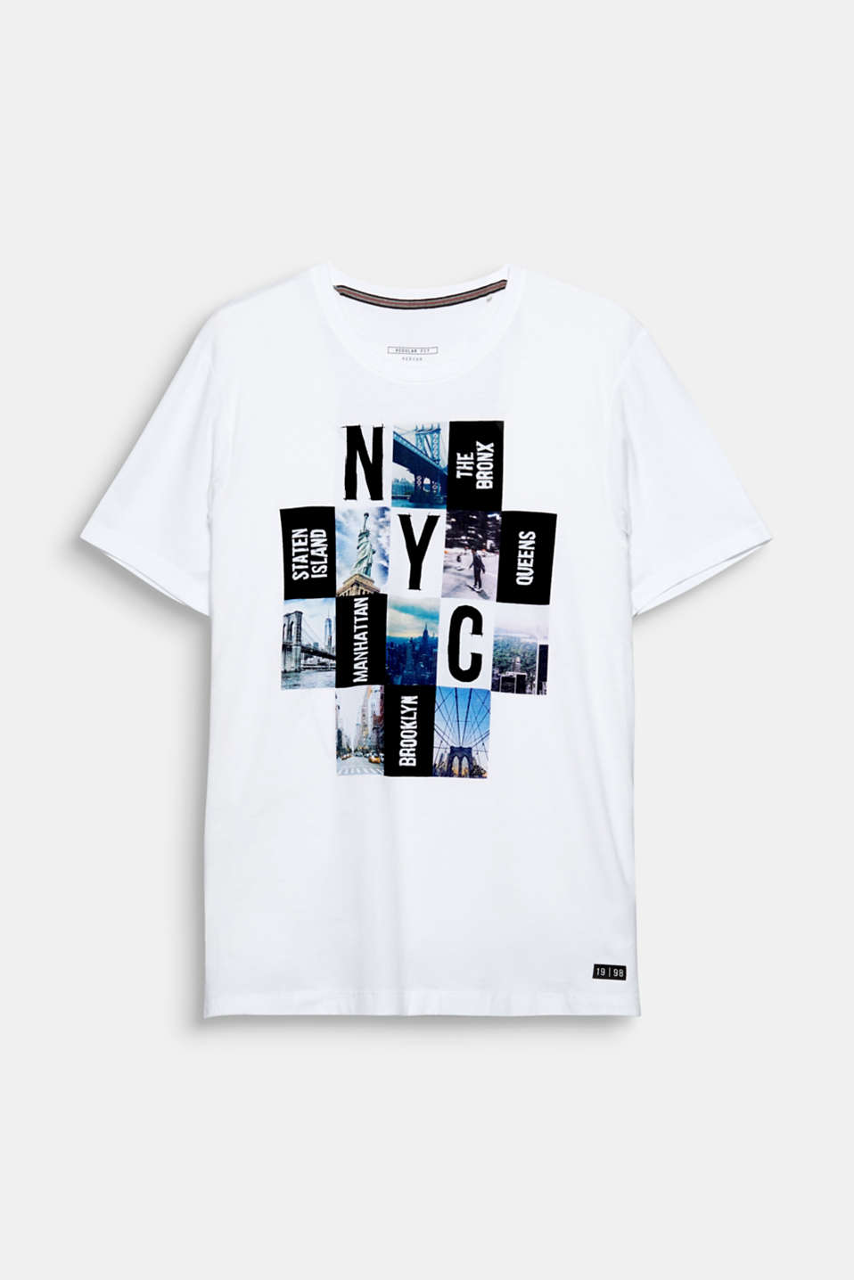 Empire State of Mind! Die coole New York-Illustration gibt diesem Shirt ein cosmopolitisches Flair.