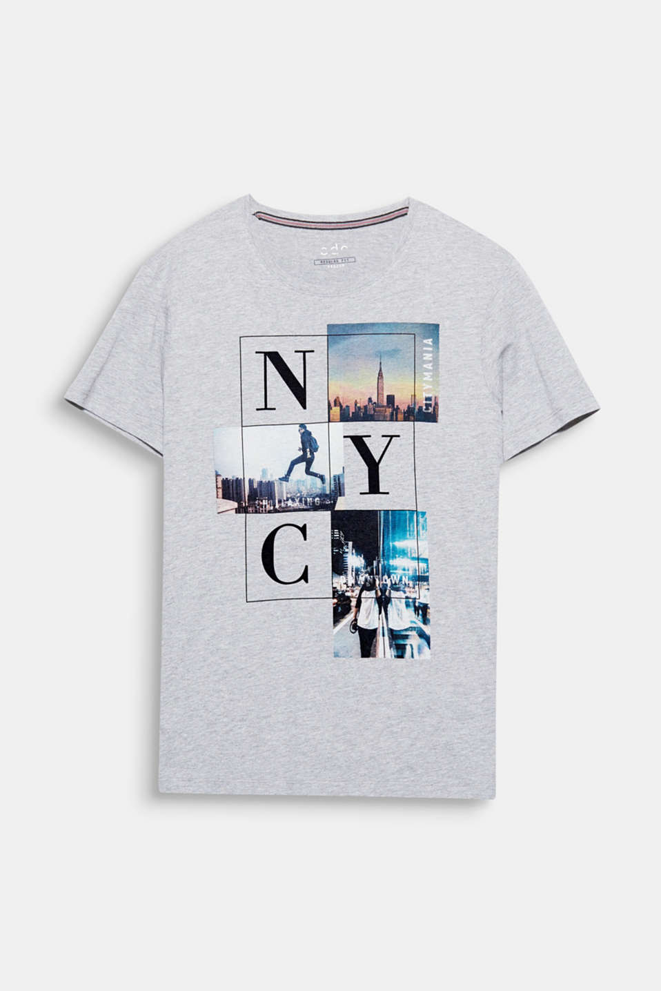 Empire State of Mind! The cool New York photo print gives this T-shirt its cosmopolitan flair.