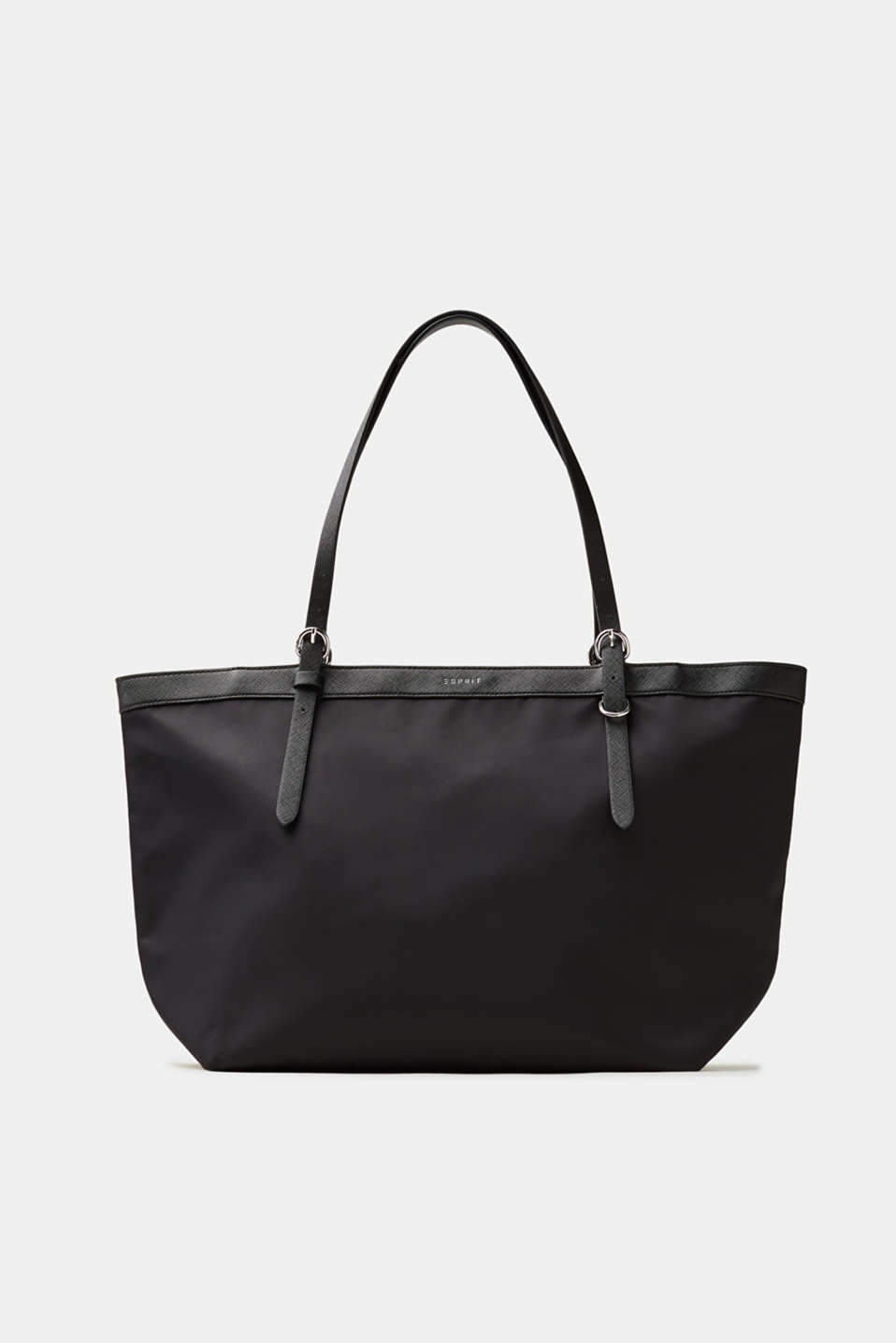 This lightweight shopper in textured faux leather is the perfect accessory for any occasion.