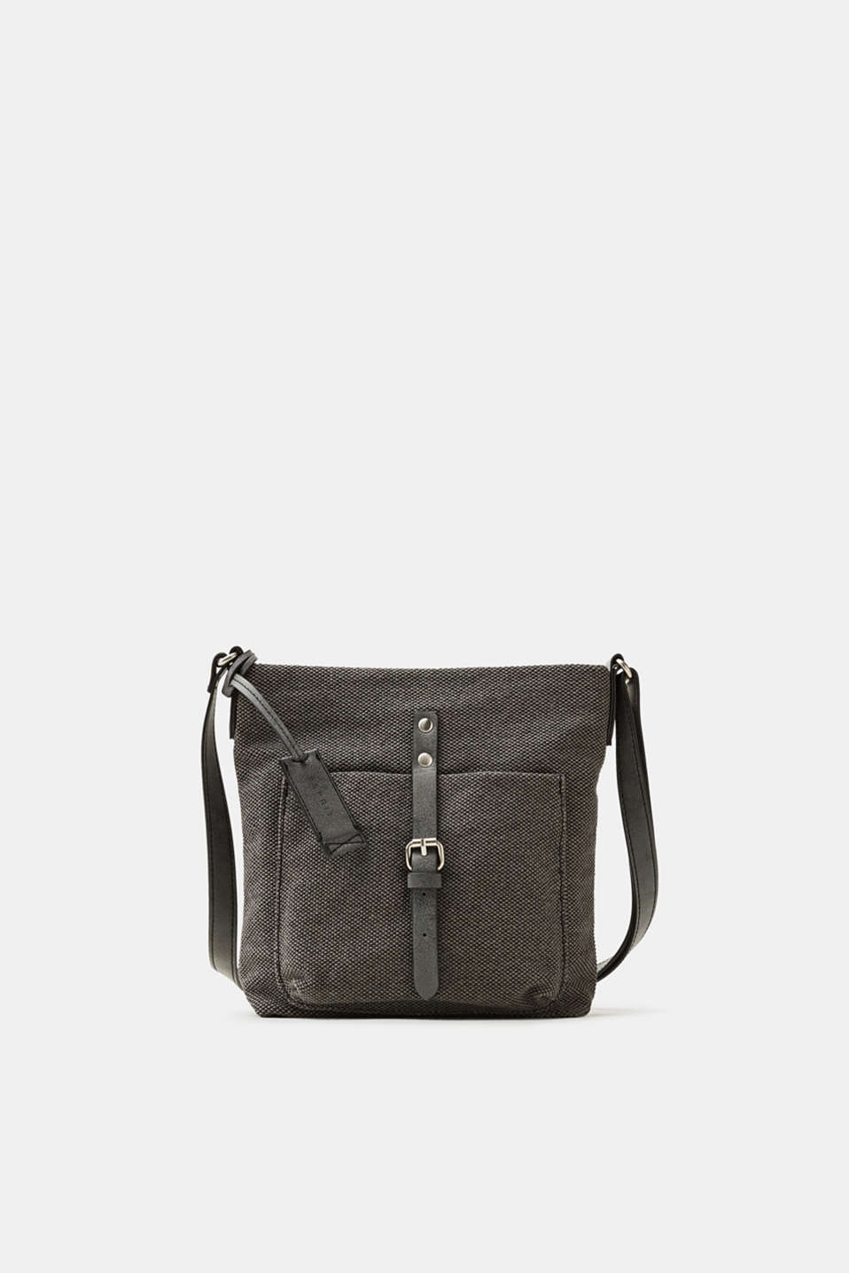 Esprit - Shoulder bag trimmed with faux leather