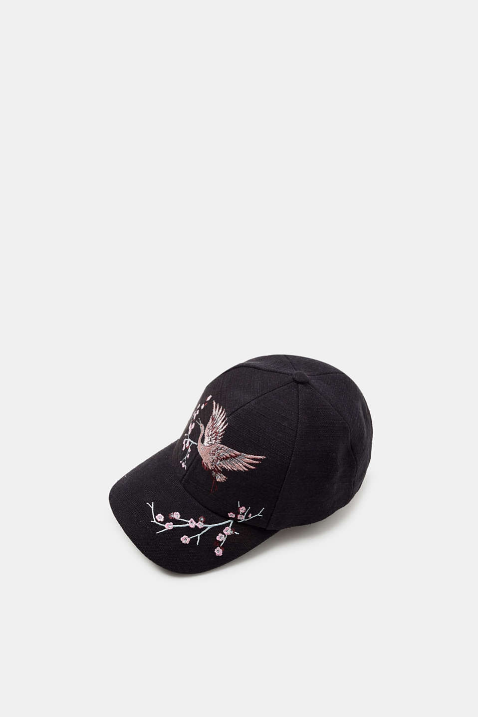 Esprit - Baseball cap with bird embroidery