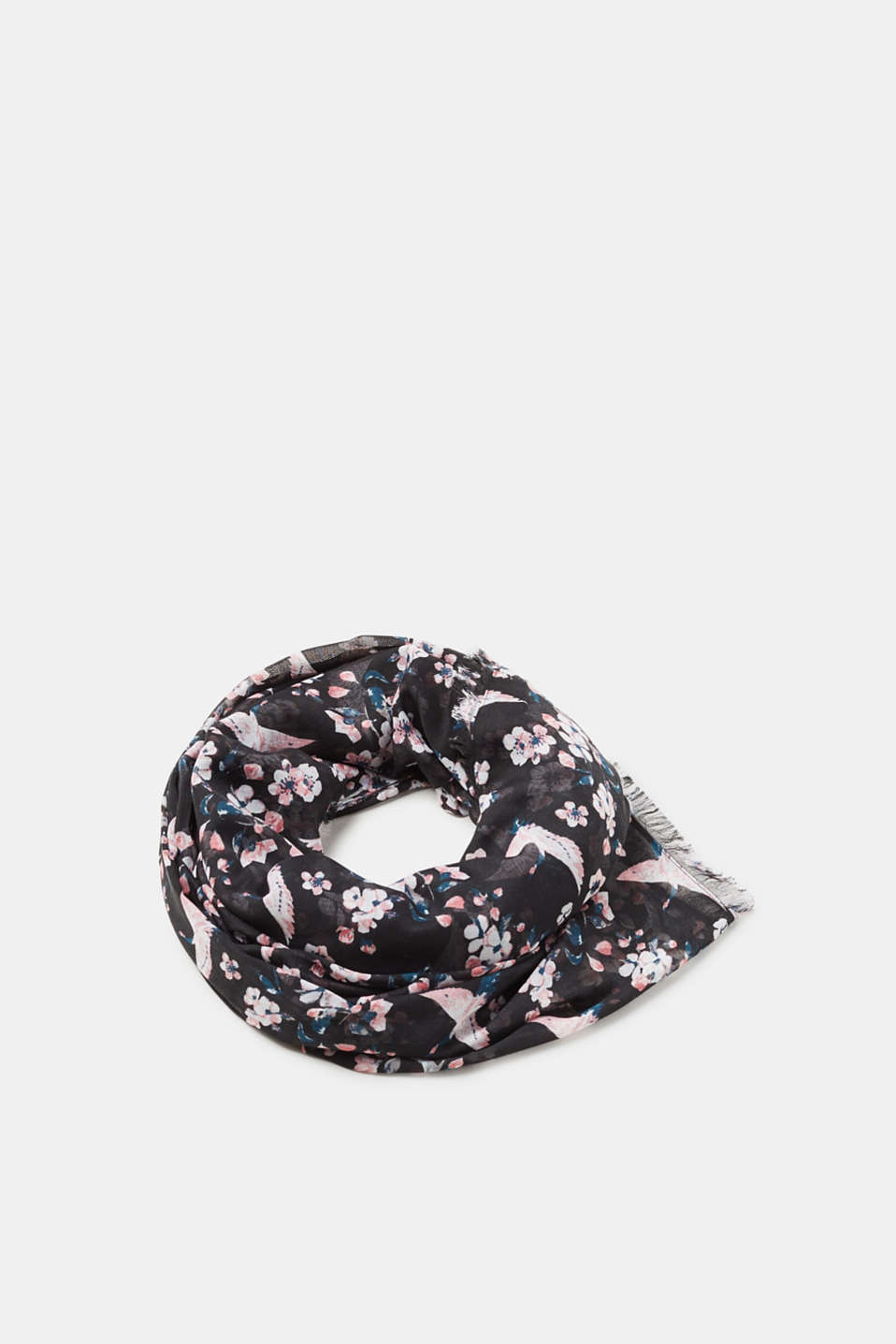 Esprit - Sheer printed woven scarf