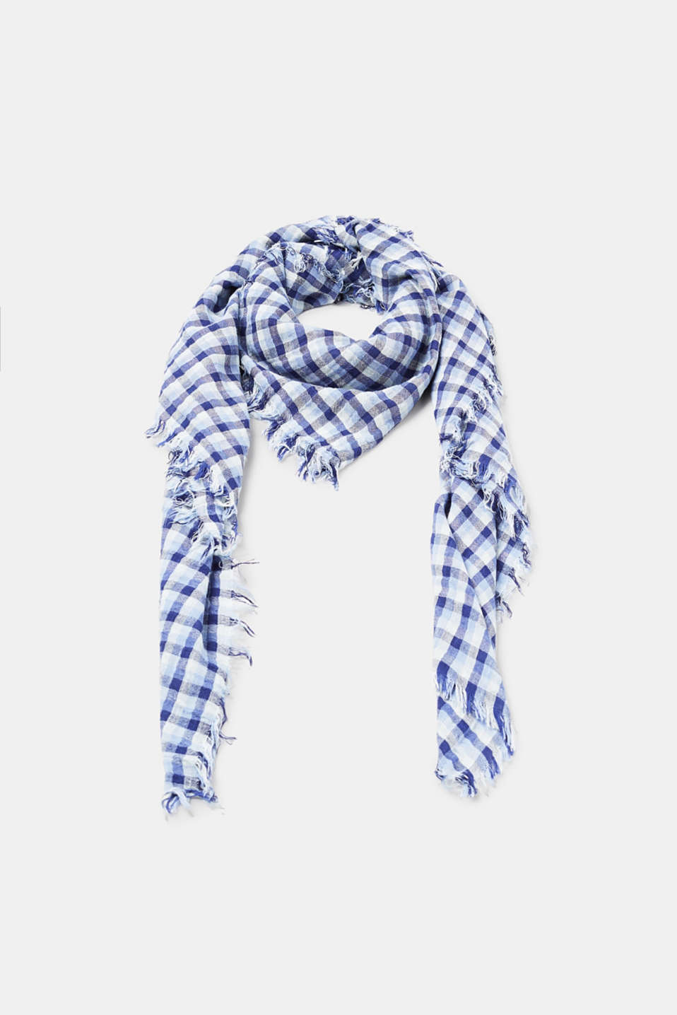 Esprit - Finely woven check scarf