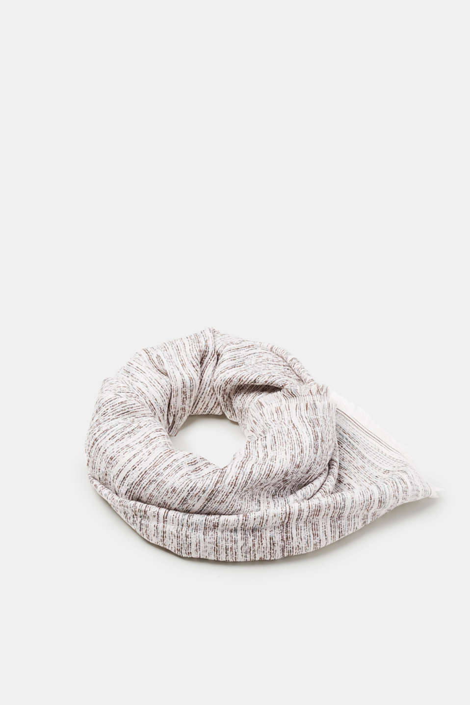 Esprit - Soft woven scarf with fringing