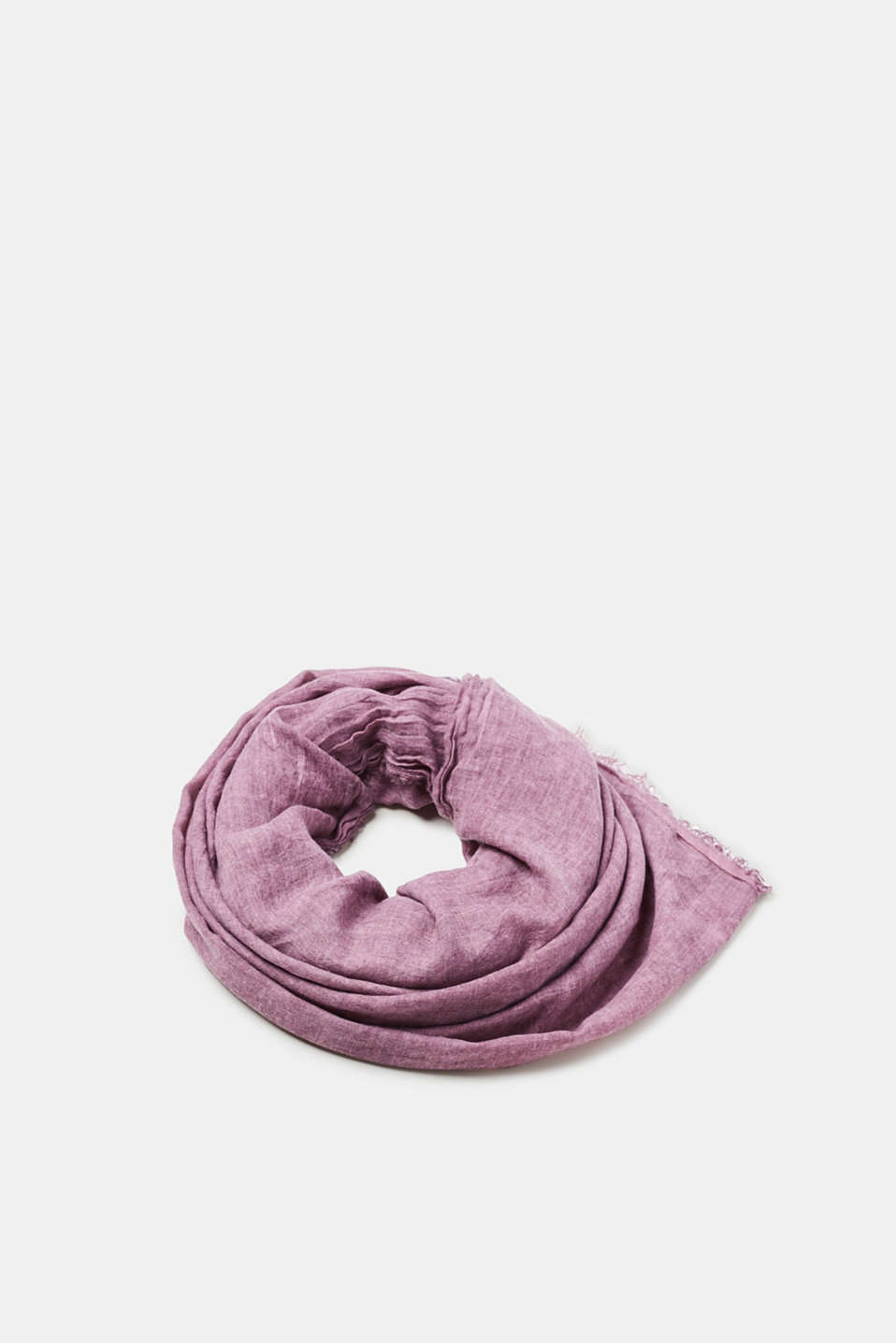 Esprit - Openwork crinkle scarf with a washed finish